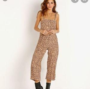 Faithful the brand elsa leopard print jumpsuit